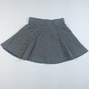 Aeropostale Black And White Skater Skirt